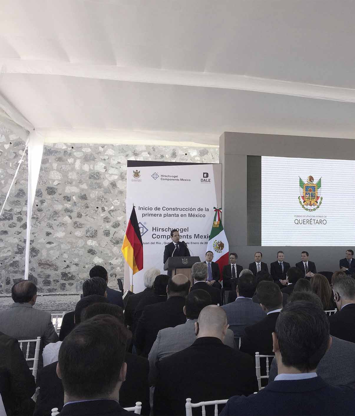 INAUGURAL CEREMONY OF MEXICO'S HIRSCHVOGEL COMPONENTS INDUSTRIAL BUILDING CONSTRUCTION : SLOT